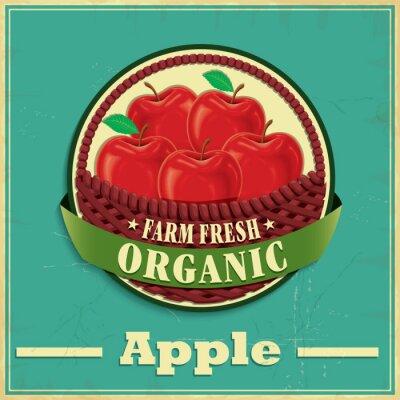 Adesivo Projeto do poster da maçã do vintage
