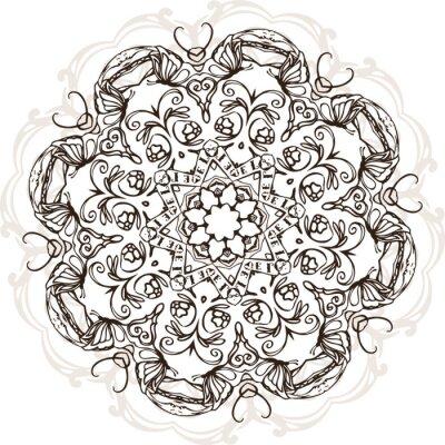 Adesivo Projeto indiano étnico da ilustração da mandala