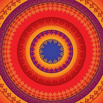 Adesivo Projeto Mandala Henna étnicas e colorido, muito elaborada e facilmente editáveis