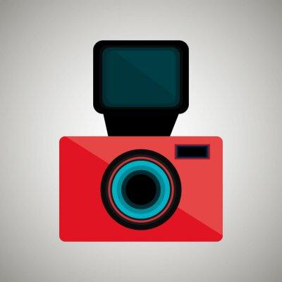 Adesivo Projeto retro da câmera