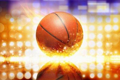 Adesivo Queimando basquete