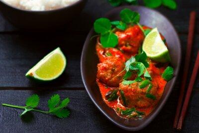 Adesivo Quente curry tailandês com peixes