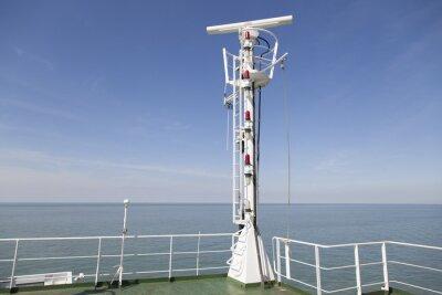 Adesivo Radarmast em Peildeck eines Frachtschiffes