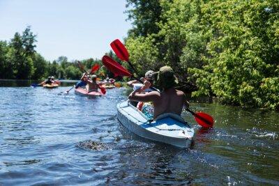 Adesivo Rafting no rio Vorskla.