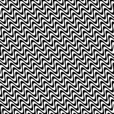 Adesivo Repetição, pretas, branca, onda, padrão