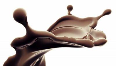 Adesivo respingo de chocolate