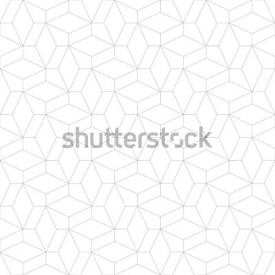 Adesivo Resumo padrão geométrico com cruzando linhas finas. Textura elegante na cor cinza. Sem costura padrão linear.
