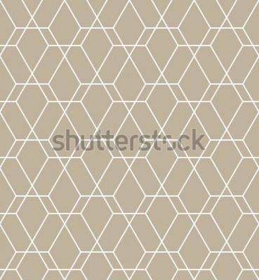 Adesivo Resumo padrão geométrico com linhas. Um fundo vector sem emenda. Padrão moderno gráfico.
