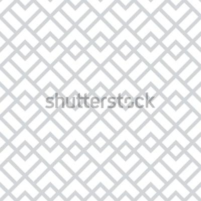 Adesivo Resumo padrão geométrico com quadrados, losangos. Um fundo vector sem emenda. Teste padrão gráfico cinzento e branco.