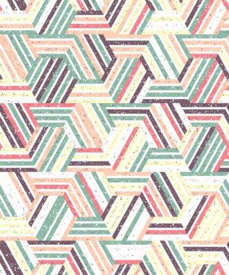 Adesivo Resumo padrão sem emenda de uma pluralidade de triângulos e listras. Fundo Textured.
