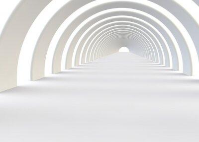 Adesivo Resumo túnel futurista em um estilo contemporâneo