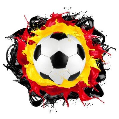 Adesivo Retro, futebol, bola, alemão, bandeira, respingo