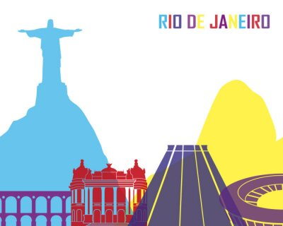 Adesivo Rio de Janeiro skyline pop