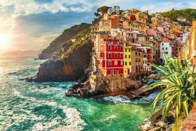 Adesivo Riomaggiore, Cinque Terre, Itália
