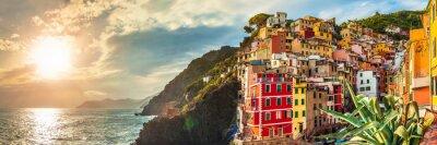 Adesivo Riomaggiore panorama, Cinque Terre, Itália