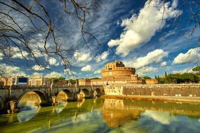 Adesivo Roma - Castel saint Angelo, Itália