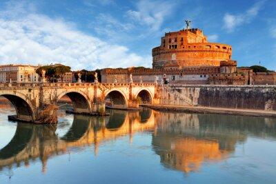 Adesivo Roma - Castel santo Angelo, Itália