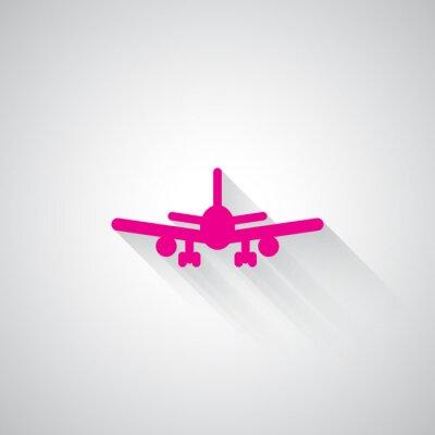 Adesivo Rosa, avião, teia, ícone, luz, cinzento, fundo