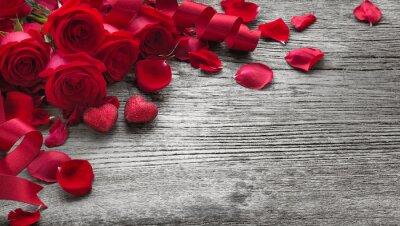 Adesivo Rosas, madeira, tábua