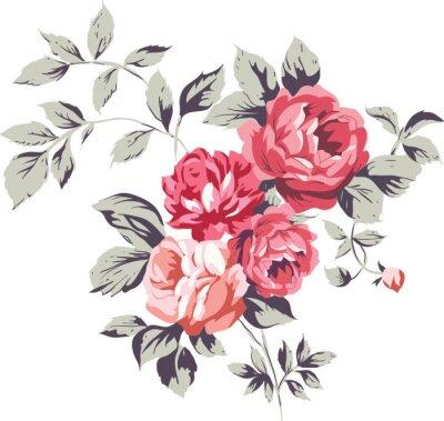 Adesivo Rosas Rosa Vintage