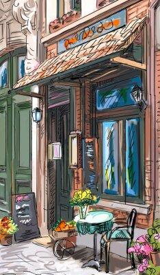 Adesivo Rua em Paris - ilustração