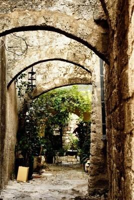 Adesivo Rua medieval na cidade velha de Rodes. Grécia