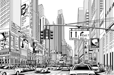 Adesivo rua na cidade de Nova Iorque