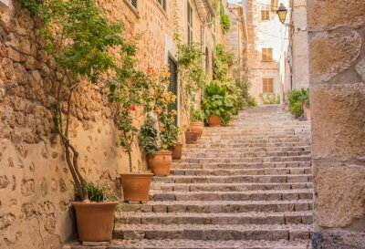 Adesivo Rua velha aldeia escadas Mediterrâneo
