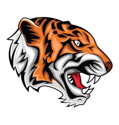 Adesivo rugido do tigre