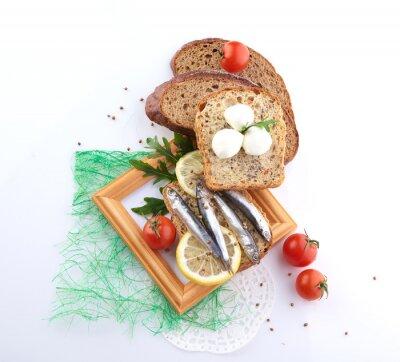 Adesivo Sardinhas, fatia, pão