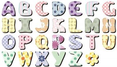 Adesivo Scrapbook alfabeto no fundo branco