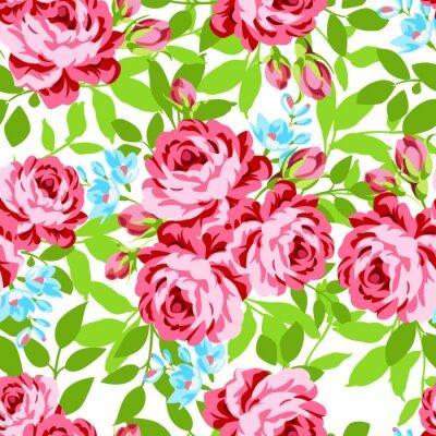 Adesivo Seamless, floral, Padrão, jardim, Cor-de-rosa, rosas
