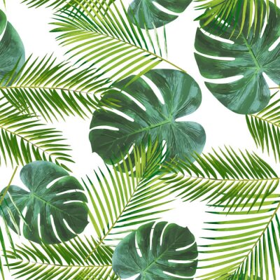 Adesivo Seamless leaft pattern background for decoration and ornament.