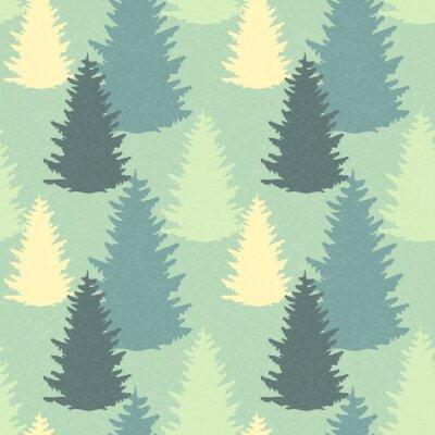 Adesivo Seamless, Padrão, abeto, árvores
