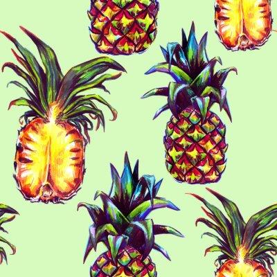 Adesivo Seamless, Padrão, tropicais, plantas, fruta
