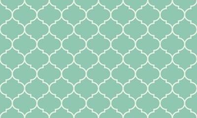 Adesivo Seamless turquesa ampla marroquino padrão vector