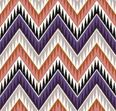 Adesivo seamless zig zag textured textile pattern