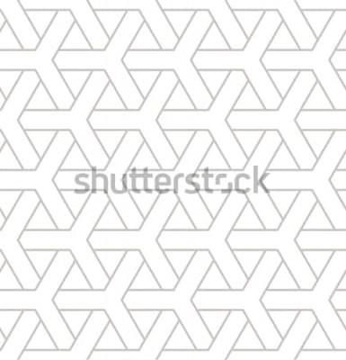 Adesivo Sem costura padrão geométrico. Impressão simples geométrica com elementos triplos. Vector repetindo a textura. Amostra de moderno hipster. Fundo de repetição minimalista.