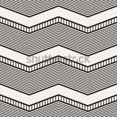 Adesivo Sem costura padrão geométrico. Listras de ziguezague. Textura do gráfico de vetor