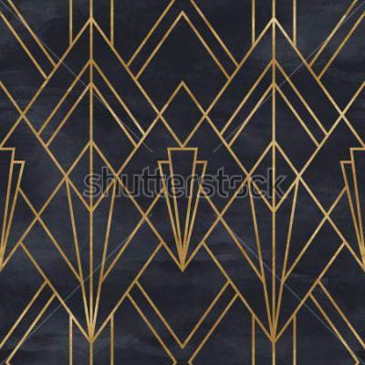 Adesivo Sem costura padrão geométrico na textura de papel. Fundo Art Deco