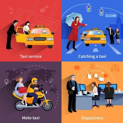 Adesivo Serviço de táxi 2x2 Banners Set