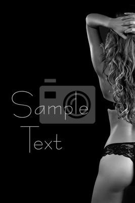 9c7c04257 Sexy back da mulher bonita loira em lingerie laptop adesivos ...