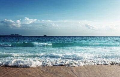 Adesivo Seychelles, praia, pôr do sol, tempo