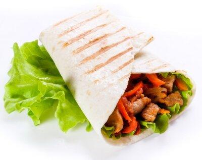 Adesivo Shawarma em pão pita