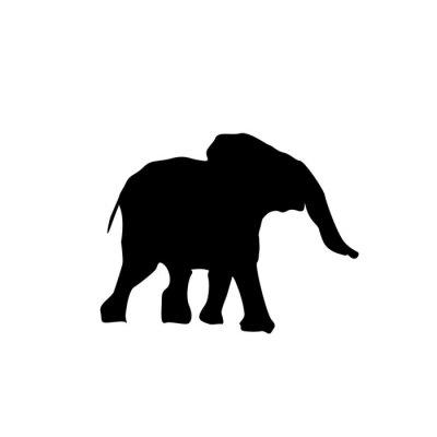Adesivo Silhueta bebê elefante