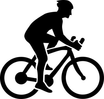 Adesivo Silhueta Ciclismo