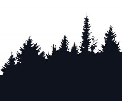 Adesivo Silhueta da floresta