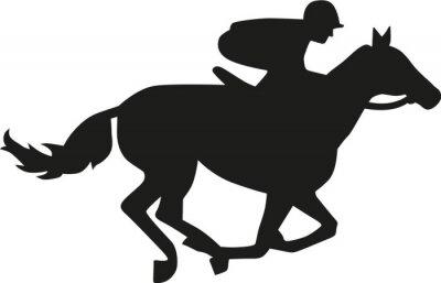 Adesivo Silhueta da raça de cavalo