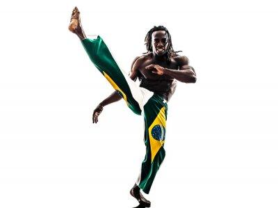 Adesivo Silhueta dança capoeira negro dançarina brasileira