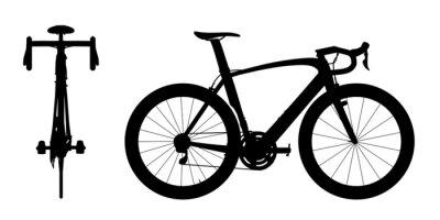 Adesivo Silhueta das corridas de automóveis da bicicleta 2em1 A
